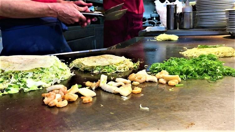 Okonomiyaki and oysters in Hiroshima