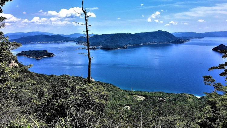Islands dotted on Seto Inland Sea-one of the many views during my hike up Mount Misen, Miyajima Island