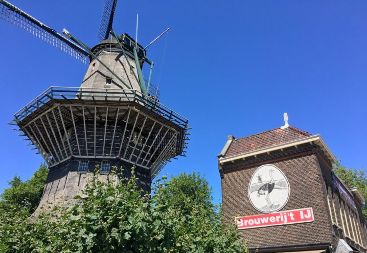Amsterdam - IJ Brewery next to the De Gooyer Windmill