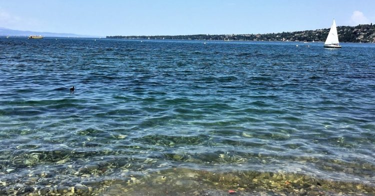 Exploring the left-bank of Lake Geneva on Day 1 of our Perfect Romantic 3-Day Itinerary in Geneva. Geneva Lake is so huge and you can see blue as far as your eyes can see