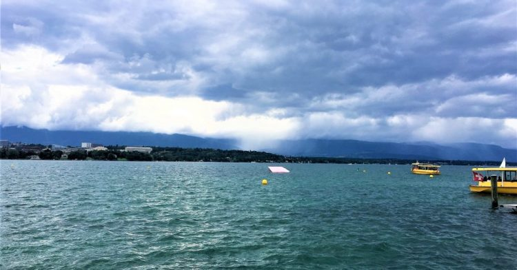 The most economical way to cruise Lake Geneva is to take one of these Mouette waterbuses which is part of the public transportation in Geneva