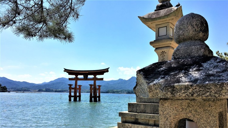 The floating torii gate at high tide seems so fitting in the surroundings of Miyajima Island