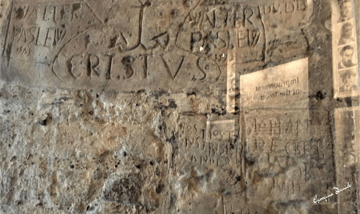 Graffiti on the walls of Beauchamp Tower, Tower of London