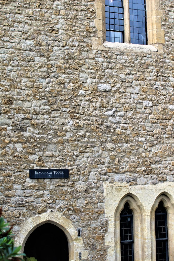 The Beauchamp Tower, Tower of London is next to the right of the Queen's House. The Dudley's were imprisoned here