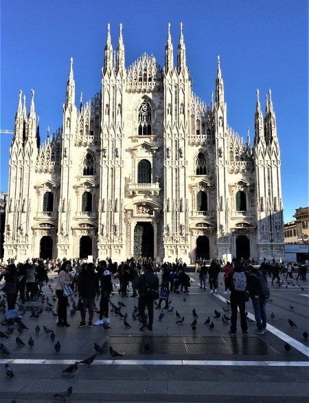 Milan Cathedral in the centre of Piazza del Duomo