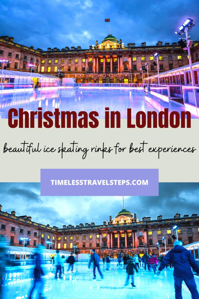 Christmas in London Ice skating rinks