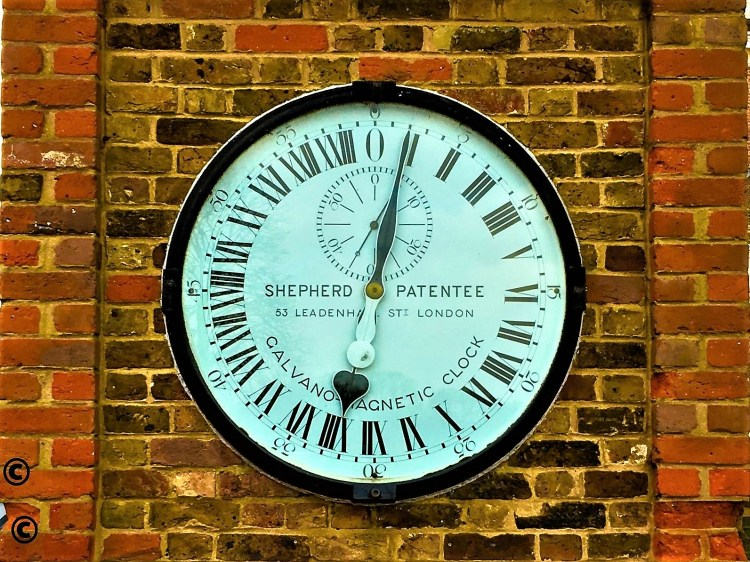 shepherd clock at the royal observatory and planetarium greenwich london
