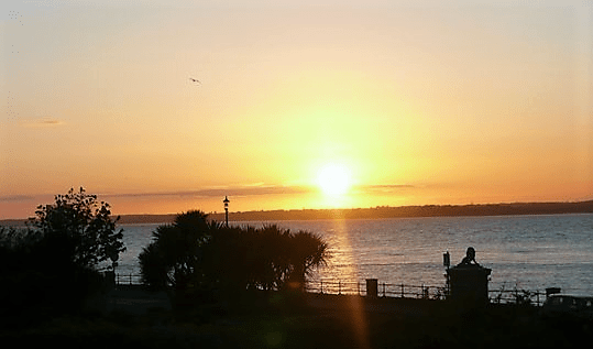 sunset over Egypt Point