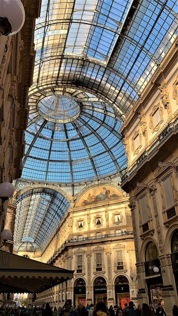 The incredibly beautiful architecture of the Galleria in Milan