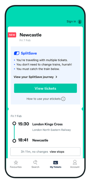 Trainline in Britain and UK