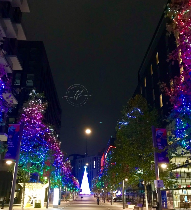 London's tallest LED Christmas tree 2020 at Wembley Park - best 10 Christmas lights in London