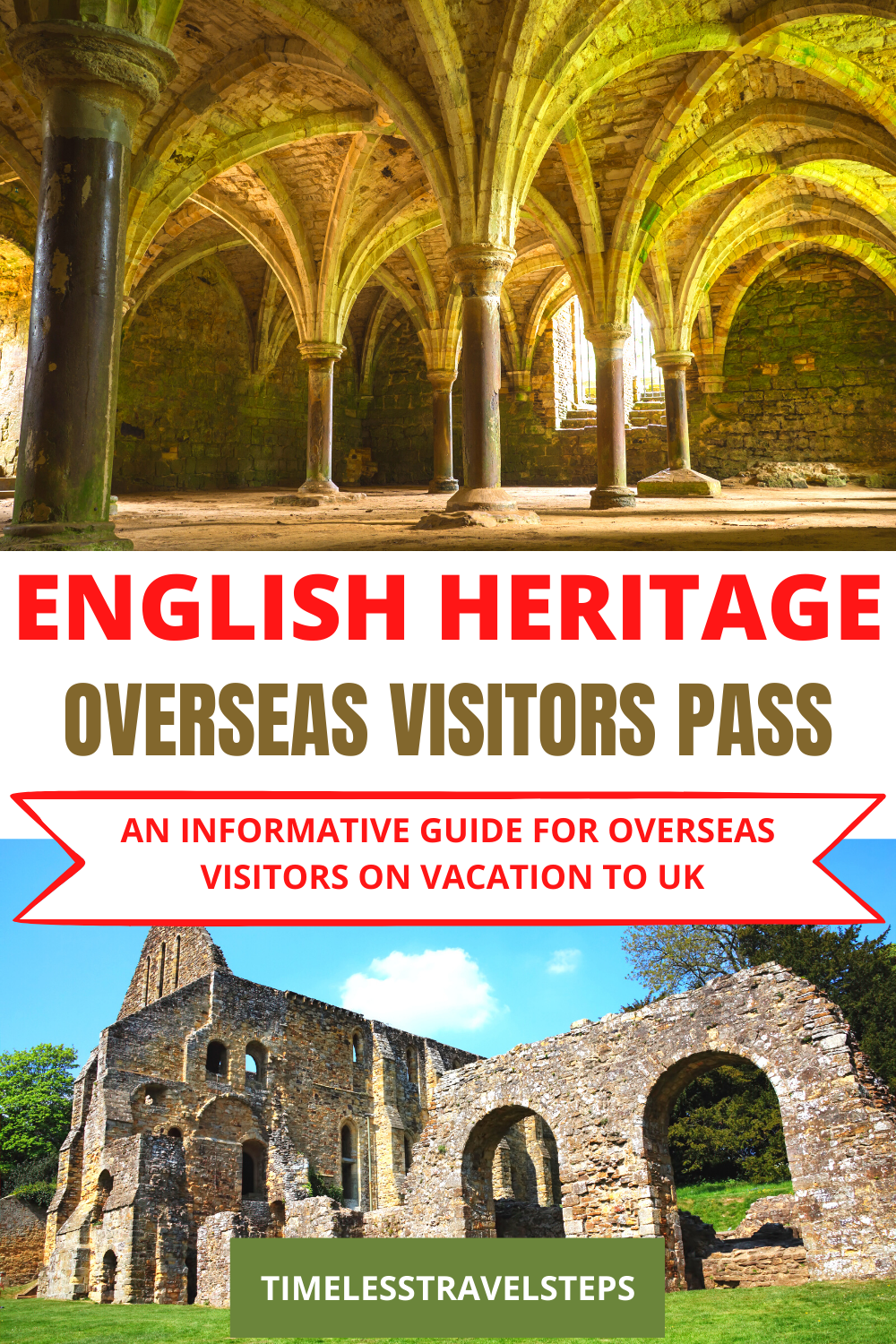 An easy yet informative guide to saving money on the English Heritage Overseas Visitors Pass when visiting our priceless heritage sites. | Save money on heritage sites UK | Visit England | via @GGeorgina_timelesstravelsteps/