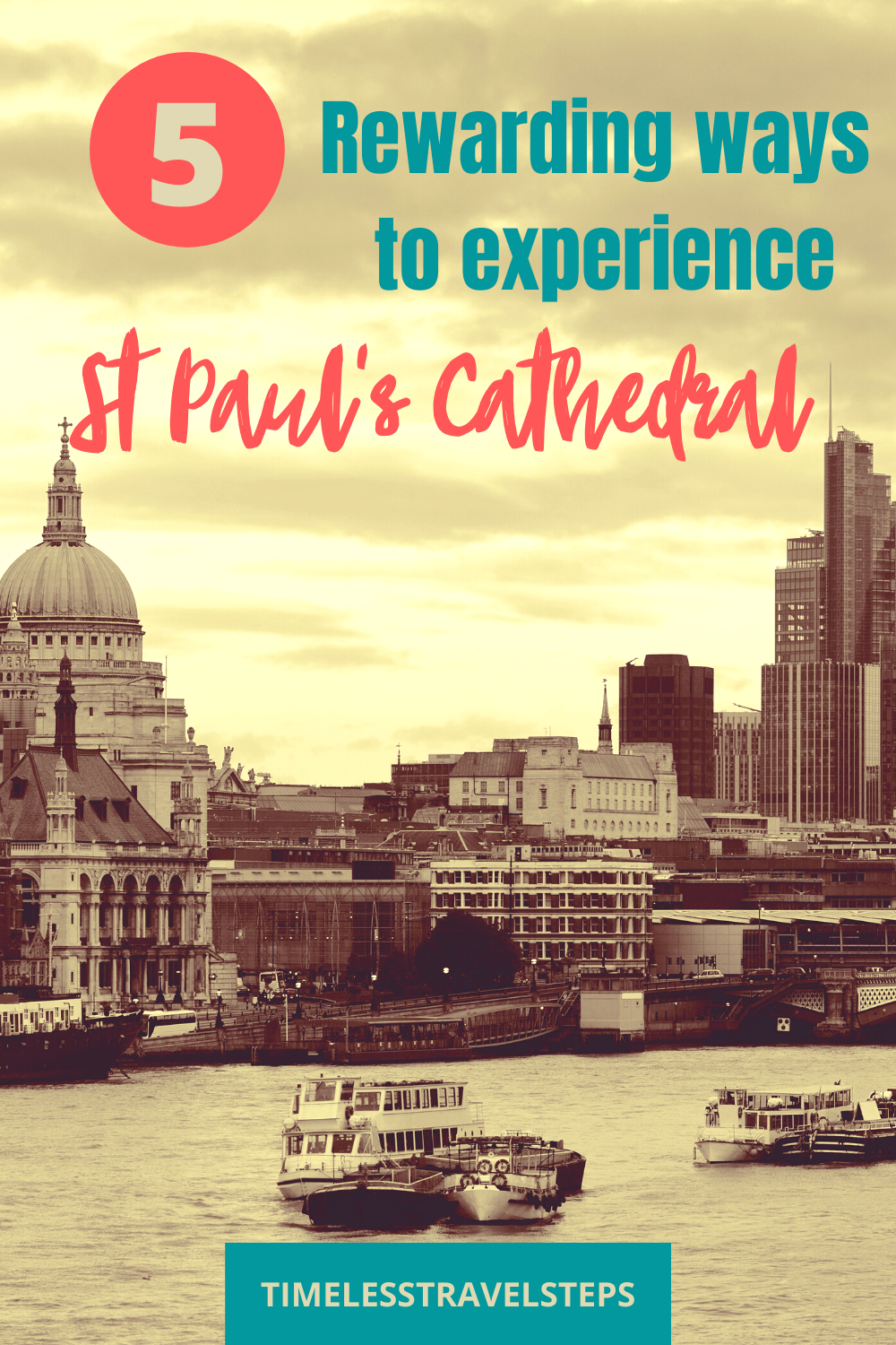 St Paul's Cathedral is one of the most visited attraction and it never fails to leave visitors in awe. Here are 5 rewarding ways to experience St Paul's Cathedral London via @GGeorgina_timelesstravelsteps/