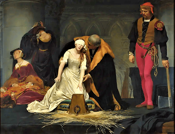 Lady Jane Grey at the scaffold