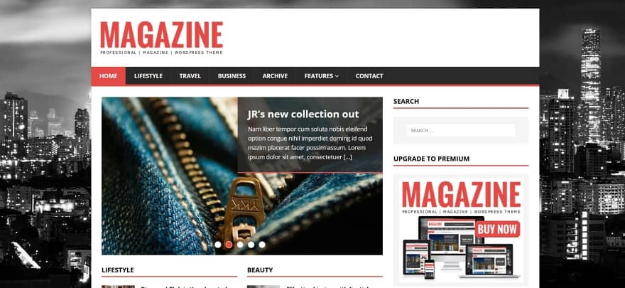 MH Magazine Lite WordPress Template