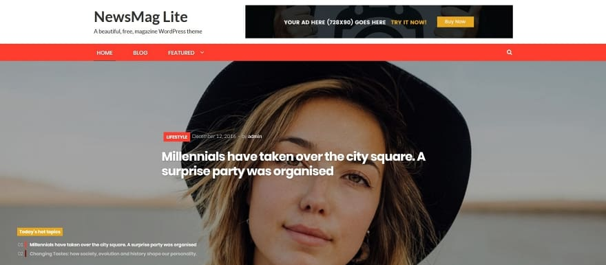 NewsMag Lite Magazine WordPress Theme