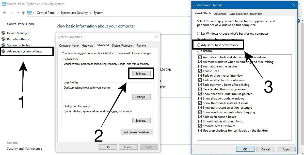 Mempercepat Booting Windows 10 Dengan Aktifkan Best Perfomance