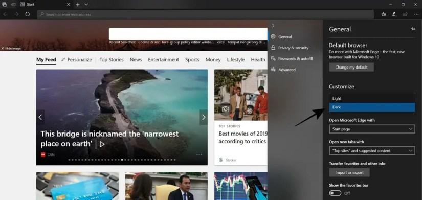 Microsoft Edge Sudah Berubah Menjadi Dark Mode