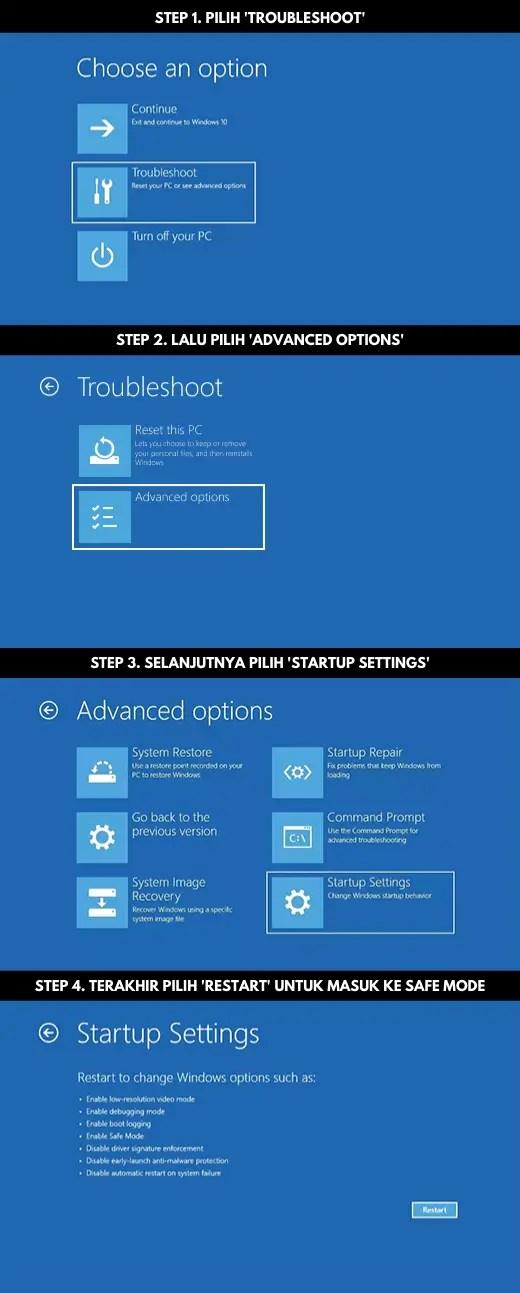 Step by Step Cara Masuk Ke Safe Mode Windows 10 1
