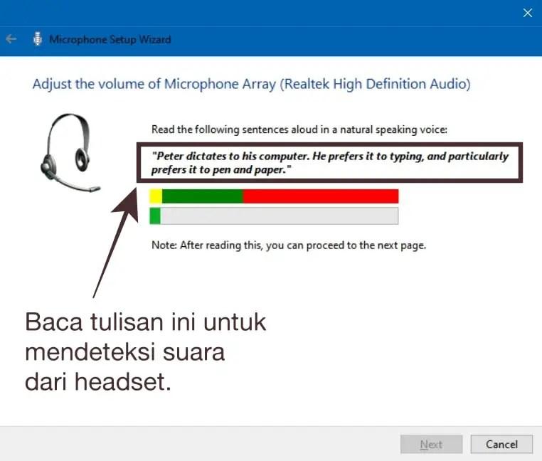 Baca Tulisan untuk Mendeteksi Suara Melalui Mic Headset