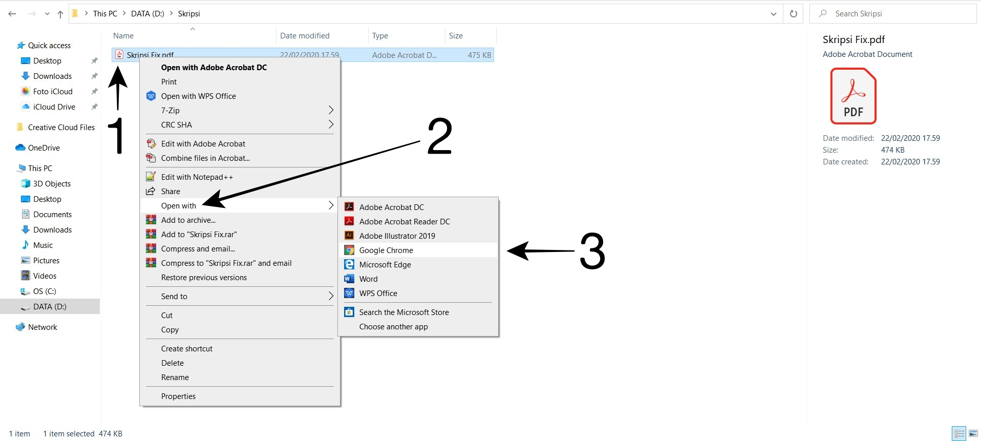 Buka Direktori File PDF