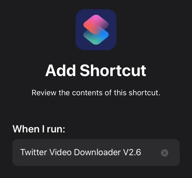 Tambahkan Shortcut Twitter Video Downloader di iPhone