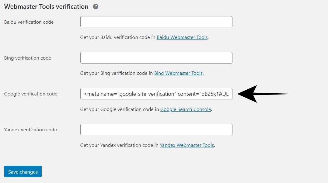 Cara Verifikasi Meta Tag Google Search Console Dengan Yoast
