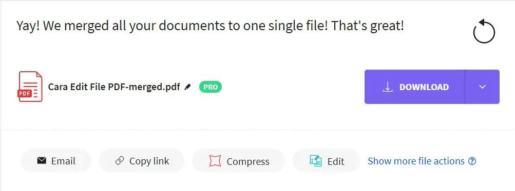 Pilih Download untuk Mengunduh PDF