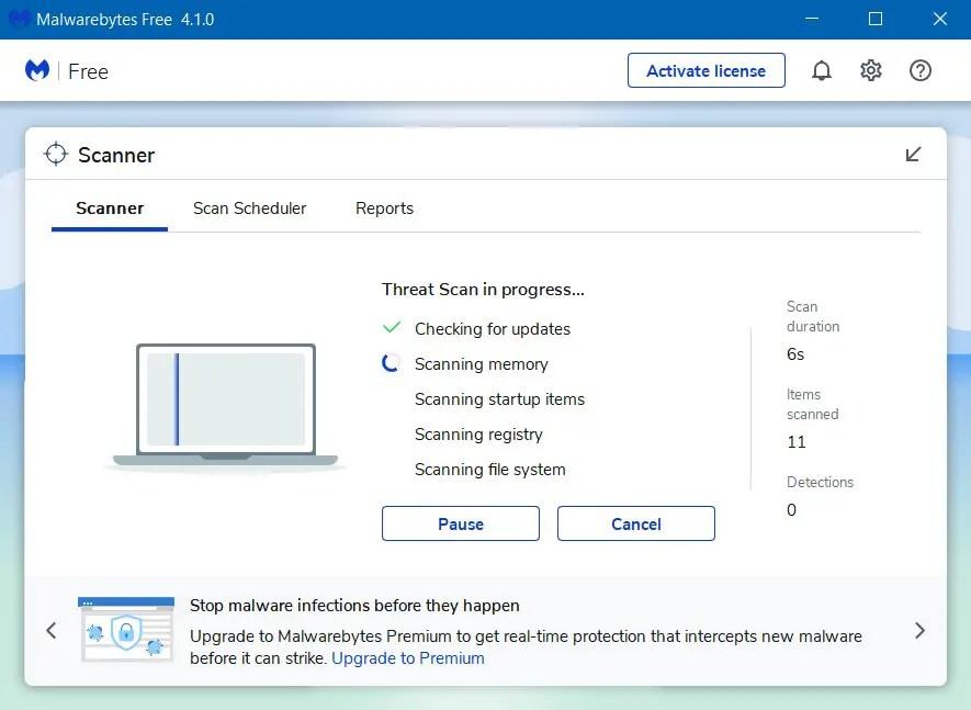 Tunggu Proses Scan Malware Selesai - Cara Menghilangkan Iklan di Google Chrome