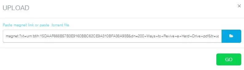 Paste Link Magnet Torrent ke ByteBX