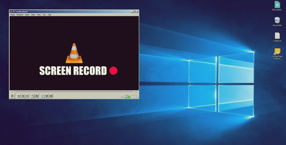 VLC Player Screen Recorder PC
