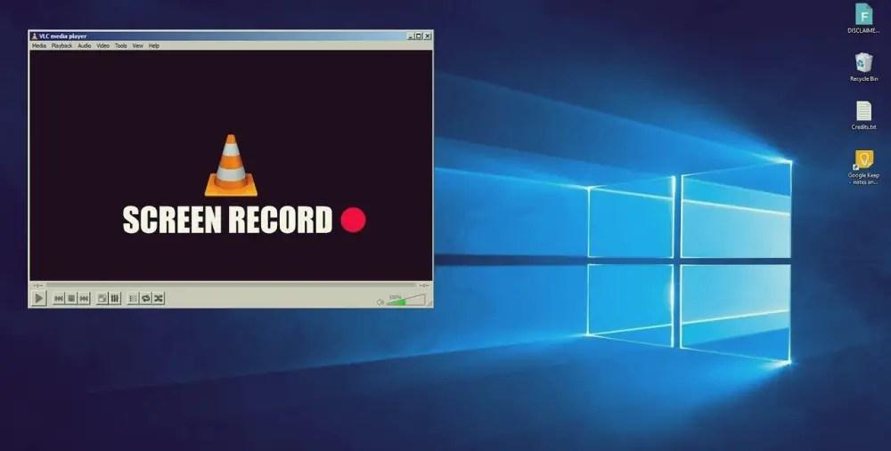 VLC Player Screen Recorder PC