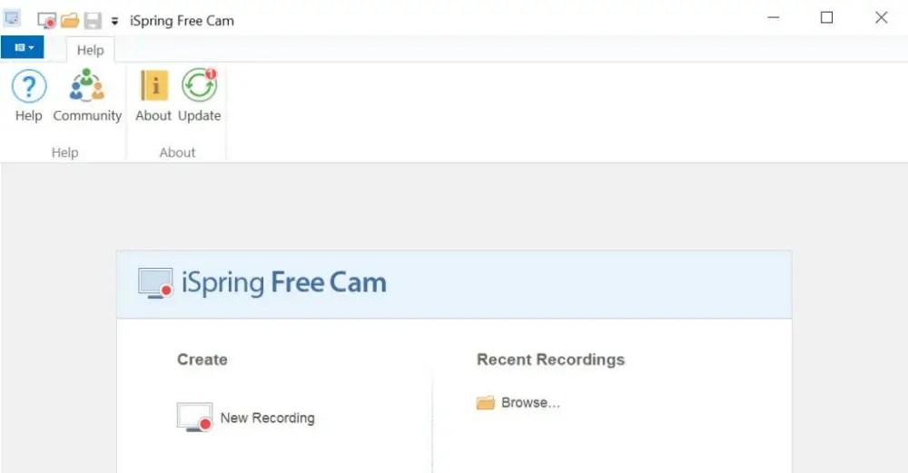 iSpring Free Cam - Aplikasi Perekam Layar PC