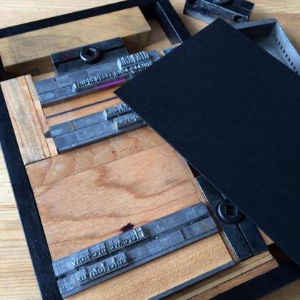 Ozark Folk School - Basic Letterpress Printing 1