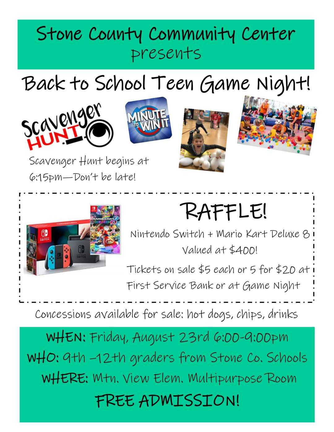 Back to School Teen Game Night! 1