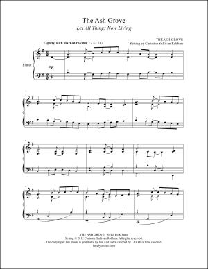 The Ash Grove Piano Sheet Music