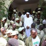President Buhari Recieves Daura National Youth Service Corp (NYSC) Members