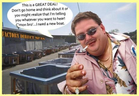 spa expo, blowout, salesman, high pressure, gypsies, hot tub sales