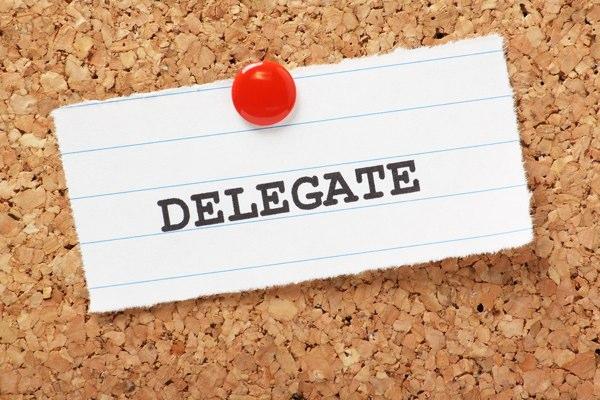 Delegate note