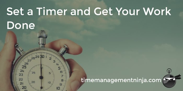 Set a Timer and Get Your Work Done