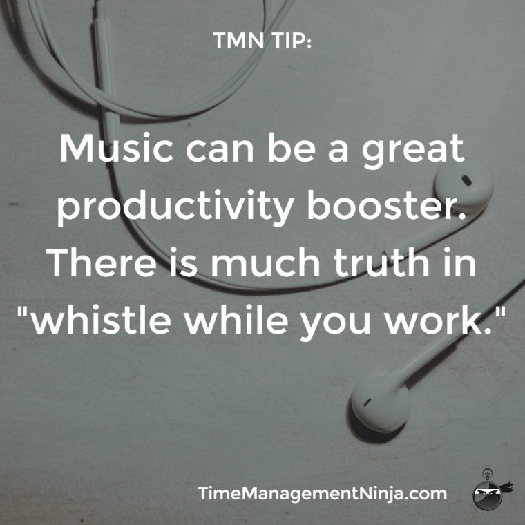 Music can be a great productivity booster