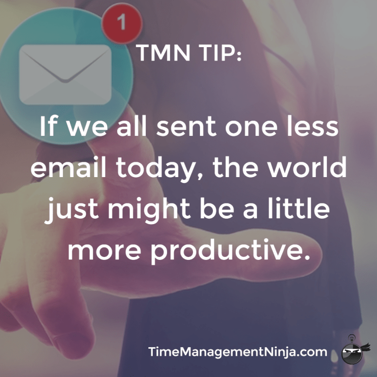 TMN Tip: One Less Email