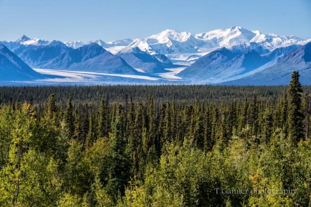 Glacier, Nelchina Glacier, Glenn Highway, Alaska