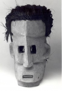 Also white people are satirized: this Dogon mask represents the author, good for a hearthy laugh by all Dogon!