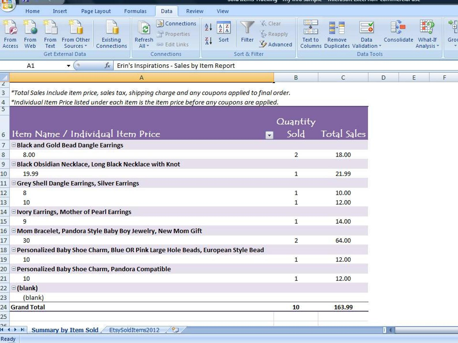 Digital Product Profit Calculator Excel