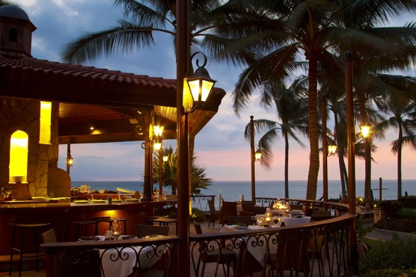 Sunset at Trattoria Restaurant in Villa Group Timeshare