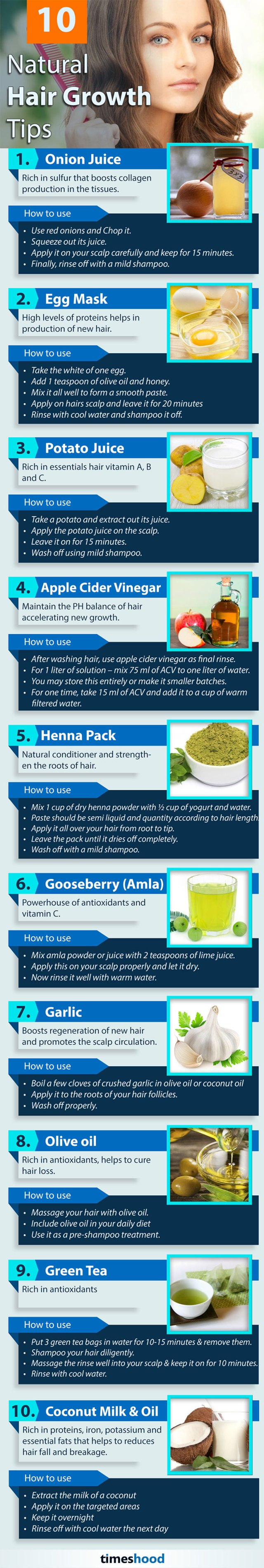10 Natural Hair Growth Tips - Powerful Home Remedies