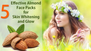 Almond Face Packs for Skin Whitening and Glow