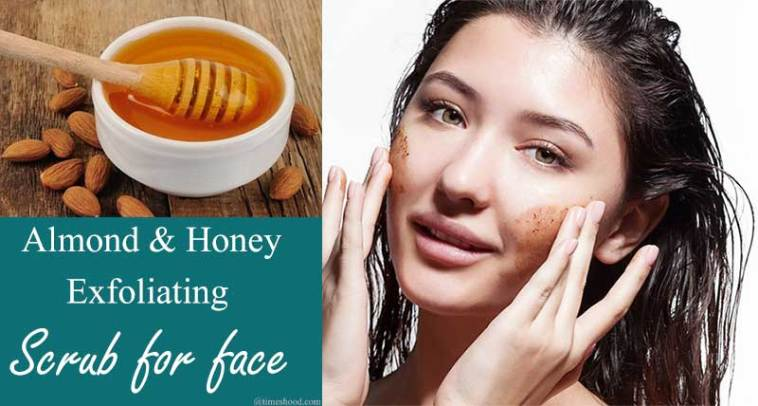 almond honey face scrub