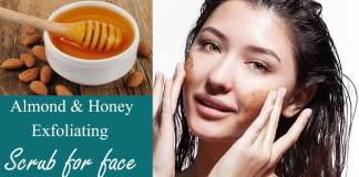 almond honey face scrub